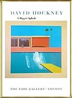 ポスター デビット ホックニー A Bigger Splash 1967 額装品 アルミ製ベーシックフレーム(ゴールド)