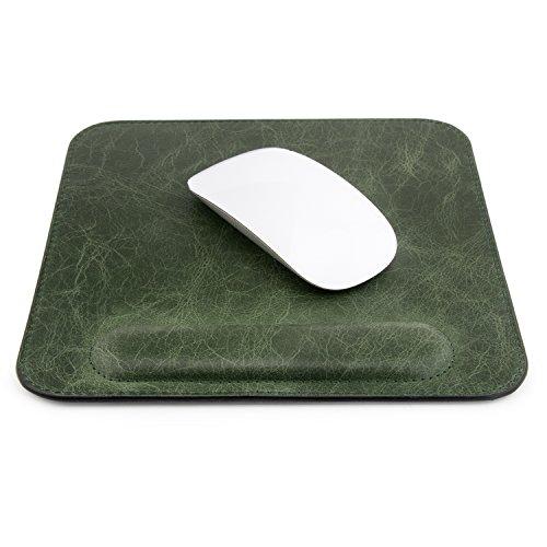 Londo Echtleder Mouspad mit Handgelenkauflage (Grün)