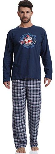 Cornette Pijama Conjunto Camiseta y Pantalones Hombre 124 2016(Jeans/Rojo(Hockey), XL)