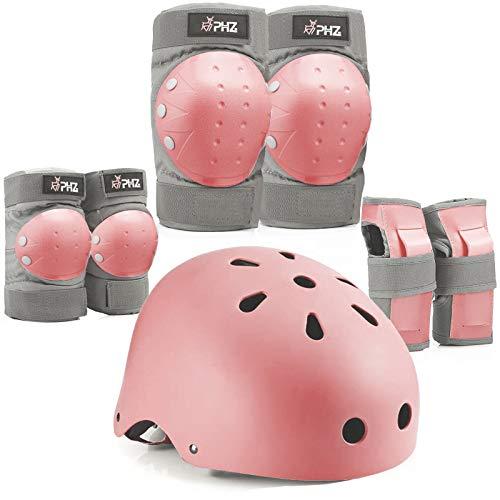 PHZ. Kids Adults Bike Helmet Adjustable Helmet for Toddler Child Youth Adult Knee Pads Elbow Pads Wrist Guards