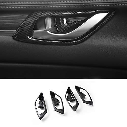 GLFDYC 4 Stück Auto Innentürgriff Schüssel Abdeckung, für Mazda CX-5 CX5 CX 5 2017 2018 2019, Styling Rahmen Innenraum Handgelenk Dekoration Aufkleber Trim Ersatz Türschüssel Zubehör