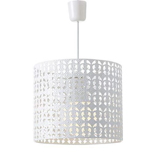 Lámpara de techo de metal blanca de 25x30x30 cm