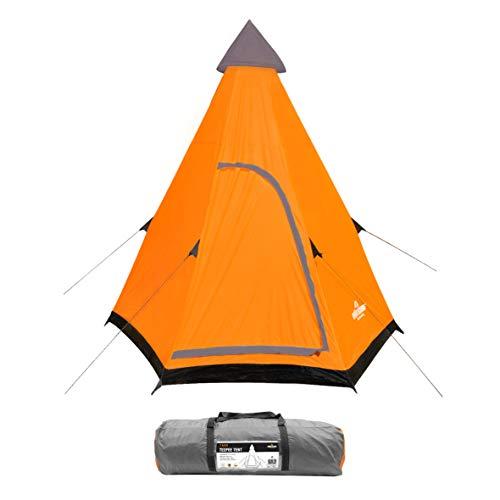 Milestone 18920 Tente de Camping Unisexe pour 2 Personnes Orange Gris Taille Unique