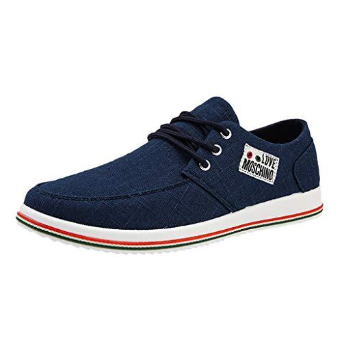 Goddessvan Fashion Men Shoes Outdoor Casual Canvas Shoes Men's Club MEMT Classic Sneaker Blue
