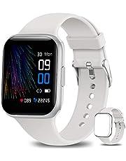 NAIXUES Smartwatch, Orologio Fitness Uomo Donna Impermeabile IP68 Smart Watch Bluetooth Cardiofrequenzimetro da Polso Contapassi Calorie Smartband Activity Tracker per Android iOS