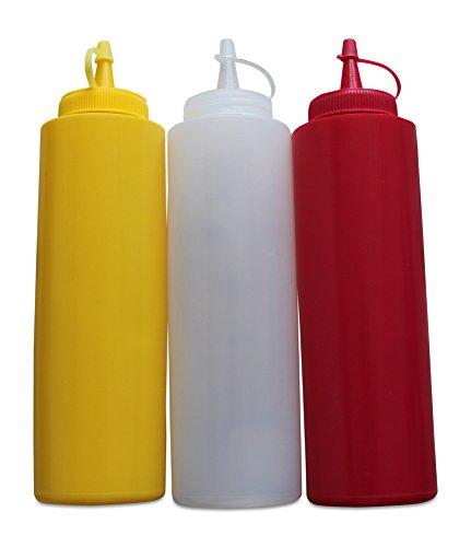 Greehome - Juego de recipientes de compresión (350 ml), color rojo, amarillo y blanco