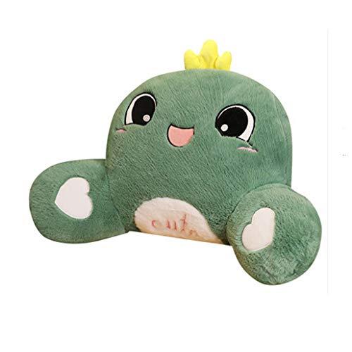 dagongji Soft Hugging Pillow, Cute Plush Lumbar Pillow Plush Toys Gift Office School Seat Cushion Green
