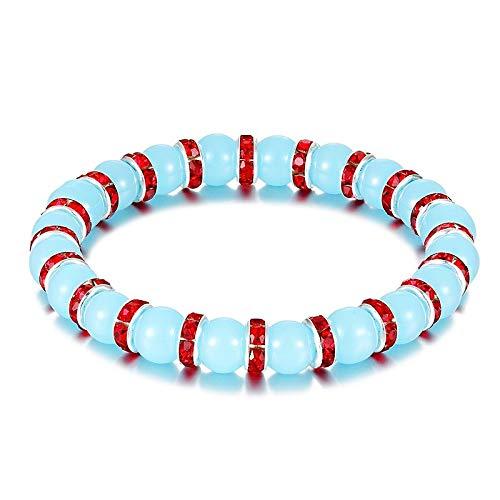 Pulsera Granos Naturales 8 Mm Azul Perla Pulsera del Encanto Pulsera De Moda Joyería De Los Hombres Mejor Regalo De Los Hombres para Novia As488