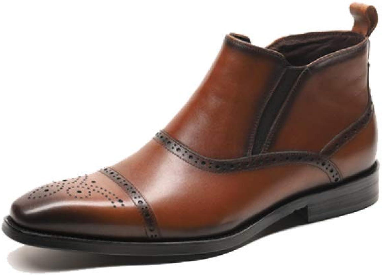 AEYMF Business Business Business Martin stövlar Real herrar läder stövlar England Points  med billigt pris för att få bästa varumärke