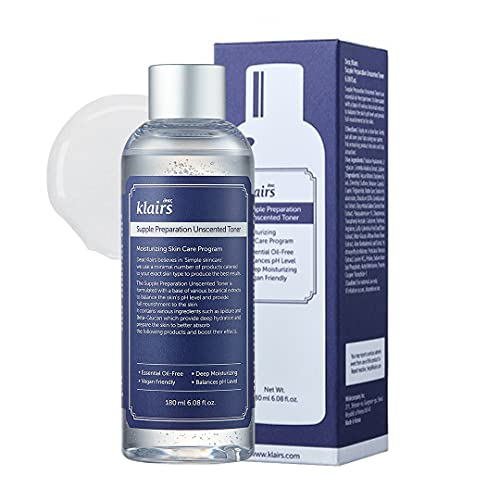 [KLAIRS] Supple Preparation Unscented Toner 6.08 fl oz, Lightweight, Essential Oil-Free, Alcohol Free, Packaging Changed