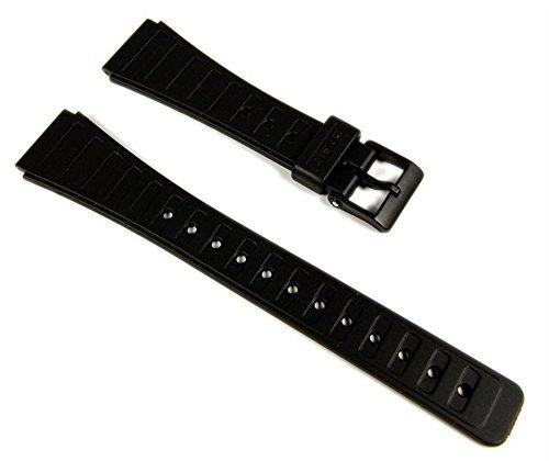 Casio 71607366 - Correa para reloj, resina, color negro