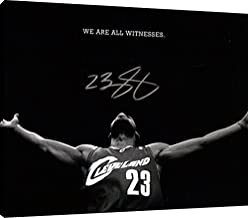 Canvas Wall Art: Lebron James We are All Witnesses Autograph Replica Print (16x20)