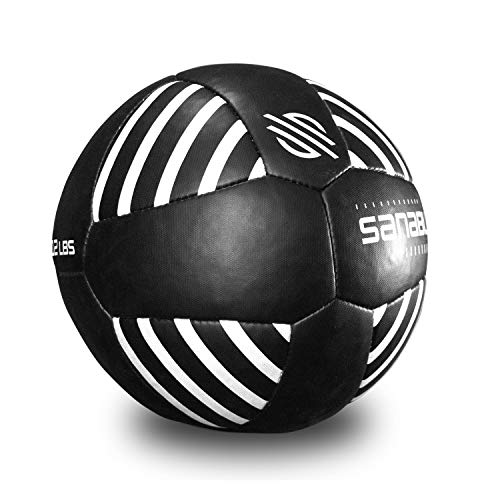 Sanabul Lab Series Exercise and Fitness Medicine Balls 14 inch Diameter Black/White 15 lbs