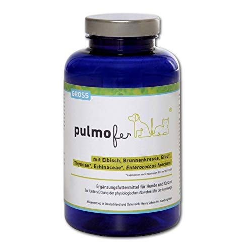 pulmofer GROSS 180 g = ca. 60 Tabletten für Hunde & Katzen, Kautabletten ca. 60 = 180 g