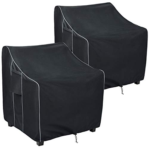 FORSPARK Outdoor Furniture Patio Chair Covers Waterproof Clearance, Lounge Deep Seat Cover Fits up to 33 x 34 x 31 inches(W x D x H) 2 Pack