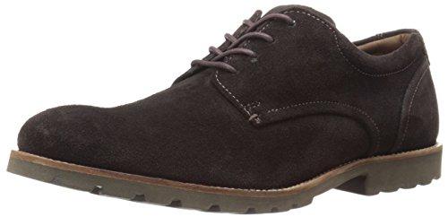 Rockport Men's Sharp And Ready Colben Oxford- Dark Chocolate Suede-12  M
