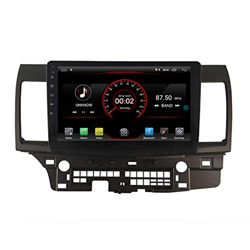 Autosion Android 10 Lecteur DVD de Voiture GPS Radio Head Unit Navi stéréo multimédia WiFi pour Mitsubishi Lancer 2007 2008 2009 2010 2011 2012 2013 2014 2015 2016 2017 Commande au Volant