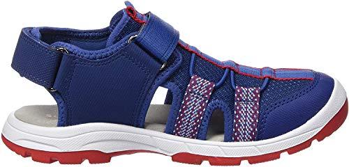 Superfit Jungen TORNADO Geschloßene Sandalen, (Blau/Rot 81), 29 EU