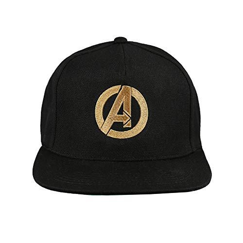 Marvel Avengers Logo Gorra de béisbol, Negro (Black Blk), Talla única para Hombre