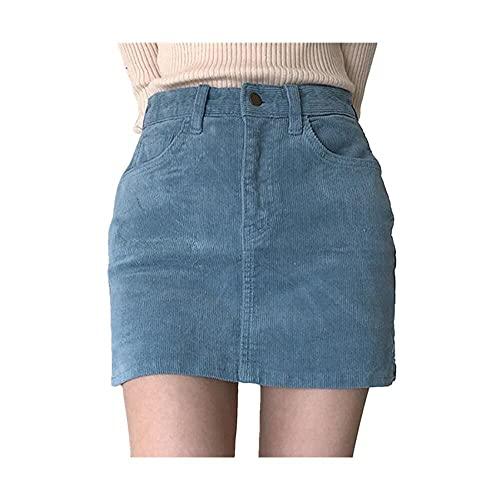 N\P Sexy Mujer Denim Mini Falda Verano Cintura Alta Falda Negro