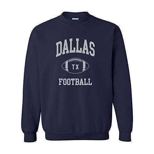 Dallas Classic Football Arch - Hometown Pride Crew Sweatshirt - 3X-Large - Navy