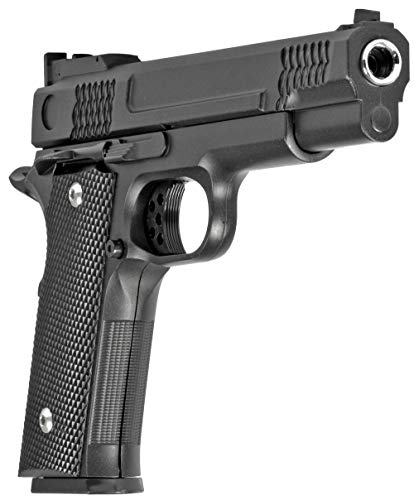 Softair Gun Set Airsoft Vollmetall Federdruck Pistole 19cm Magazin 0,5 Joule