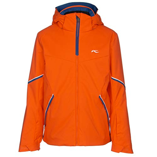 Kjus Boys Formula Jacket Orange, Kinder Regenjacke, Größe 176 - Farbe Kjus Orange - Southern Blue
