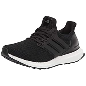 adidas Women's Ultraboost DNA Running Shoe, Black/Black/White, 8.5