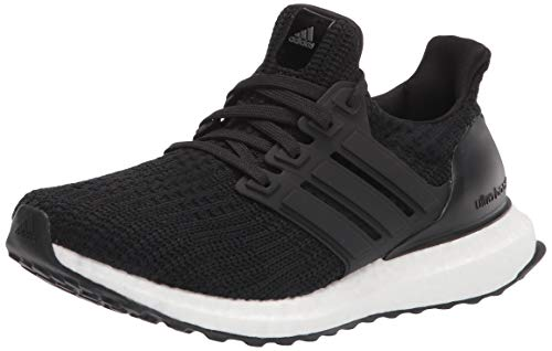 adidas Women's Ultraboost DNA Running Shoe, Black/Black/White, 8