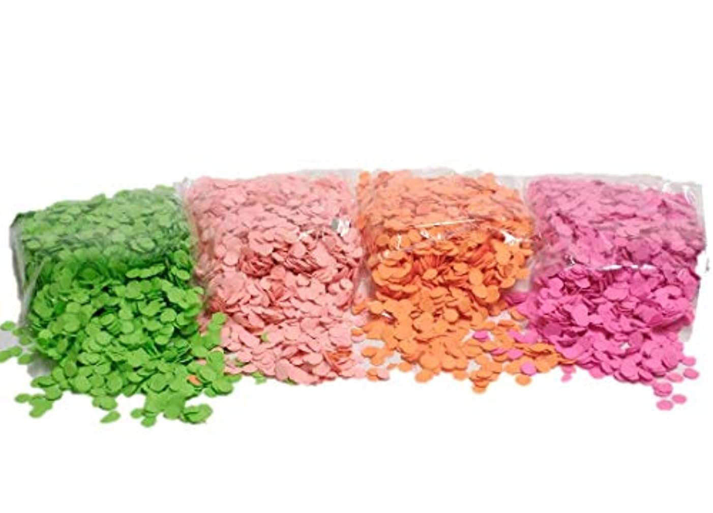 PartyParty Neon Confetti Pack. Red, Pink, Green, and Orange Colors Fluoresce Under UV Black Light
