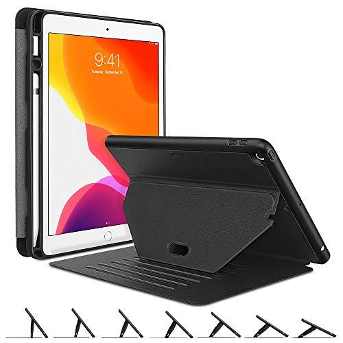 """ESR Magnetische Ständerhülle für iPad 7 (10,2"""" Generation 2019) praktische Standwinkel mit starkem Magnet zum Aufhängen, Robuste Schutzhülle mit Stifthalter [Auto Sleep/Wake] - Schwarz"""