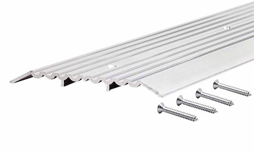 """M-D Building Products 11619 M-D Heavy Duty Fluted Saddle Threshold, 36 in L X 6 in W X 1/2 in H, Aluminum, quot x 6"""" x quot, Unfinished"""