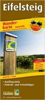 Wanderkarte Eifelsteig: mit Ausflugszielen, Einkehr- & Freizeittipps, wetterfest, reissfest, abwischbar, GPS-genau. 1:25000 ( Folded Map, 27. Mai 2014 )