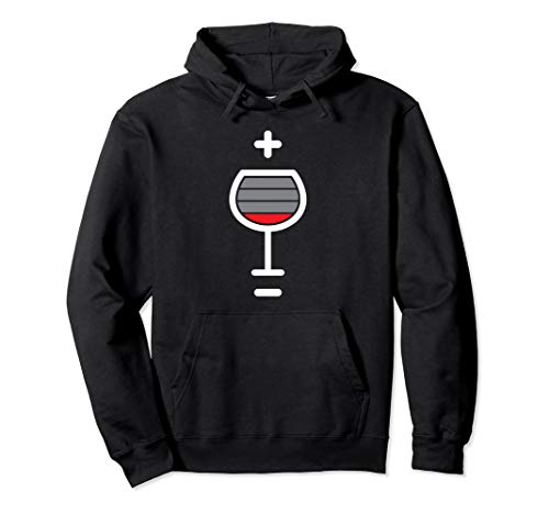 wine glass low battery level funny wine drinker sommelier Pullover Hoodie