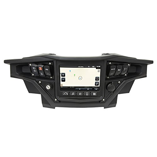 STV Motorsports 2017-2018 Polaris RZR XP 1000 RIDE COMMAND Custom Switch Dash Panel Plates with 4 free laser switches - 100% MADE in USA (black, 4 laser switch)