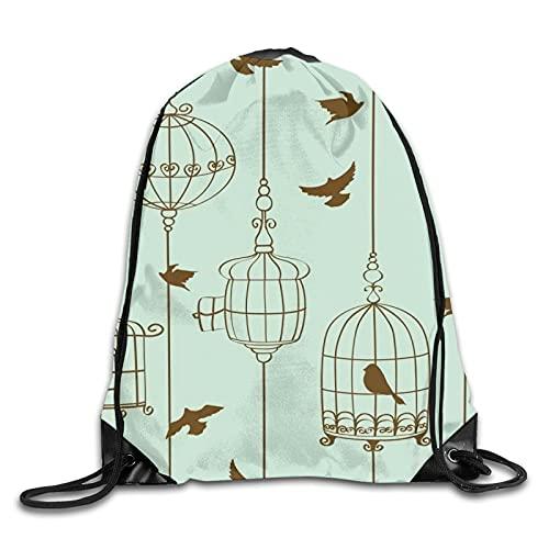 Mochila de poliéster con cordón para pájaros y jaulas, bolsa de deporte...
