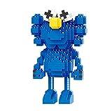 BAIDEFENG Bloques De Construcción De Plástico KAWS Building Set Modelo 3D Mini Blocks Micro Bricks 3D Puzzle DIY Juguete Niños Bloques De Construcción,Azul