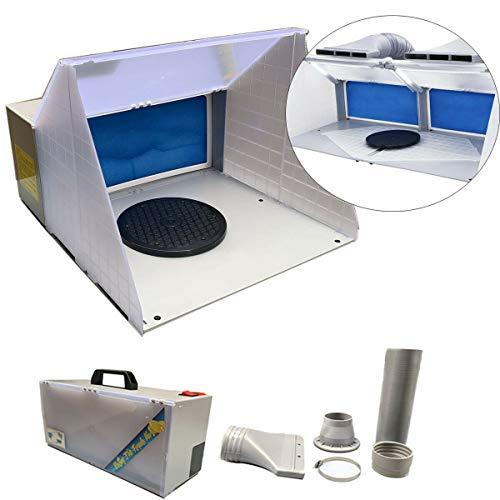DOMINTY Airbrush Spritzkabine Spray Booth Absauganlage 4m³/min Farbe Filter Farbnebel Drehteller Zubehör und Lackierkabine Ersatzfilter für Airbrush Modellbau und Lackierarbeiten