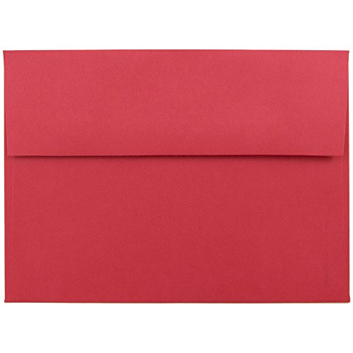 JAM PAPER A7 Colored Invitation Envelopes - 5 1/4 x 7 1/4 - Red Recycled - 100/Pack