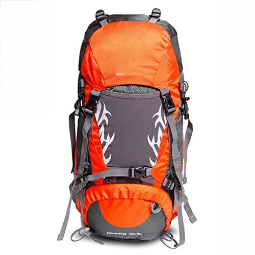 Shcro Outdoor mountaineering bag waterproof large capacity lightweight male shoulder travel backpack hiking travel bag female (Color : Orange)