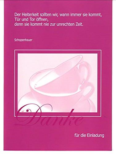 Dankeskarte – Danksagungskarte 2 St. + 3 Geschenkkarten Limited Edition – Exklusive Designkarten – Grußkarte Danke – Dankkarte