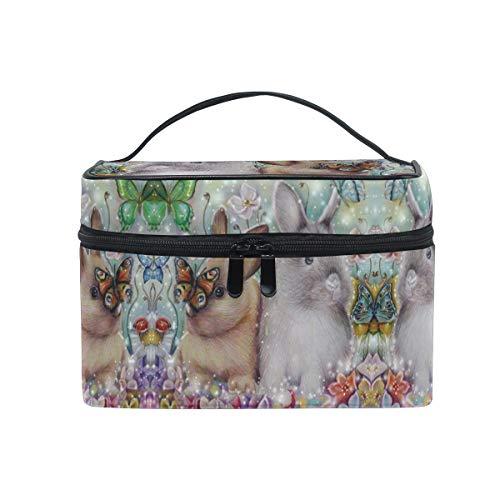 Rêve Lapin Papillon Trousse de Maquillage Femmes Voyage Sac à Cosmétique Cas Trousse de Toilette Bag
