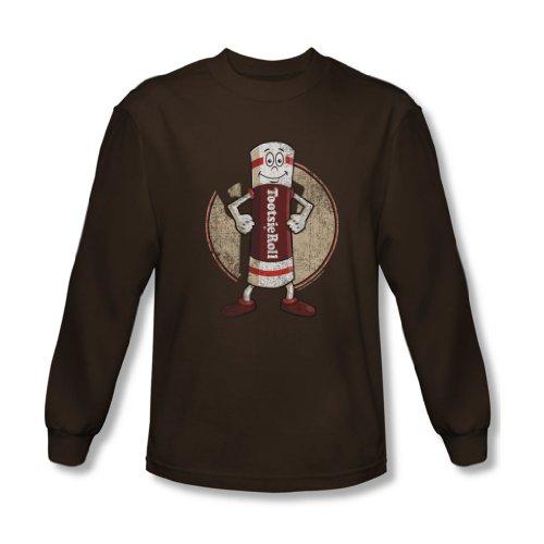 Tootsie Roll - Tootsie Man shirt à manches longues pour homme au café -, Small, Coffee