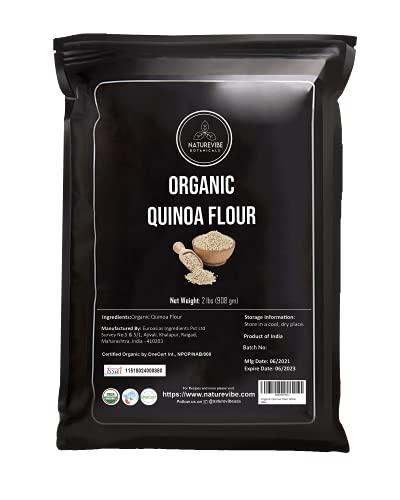 Naturevibe Botanicals Organic Quinoa Flour, 2lbs | Non-GMO and Gluten Free |