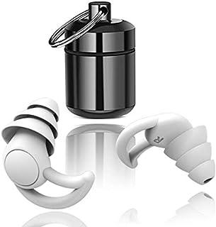 Bouchons d'Oreilles Anti Bruit Sommeil Etanches en Silicone 33db antibruit Blocage du son les bouchons d'oreille Soft Slee...