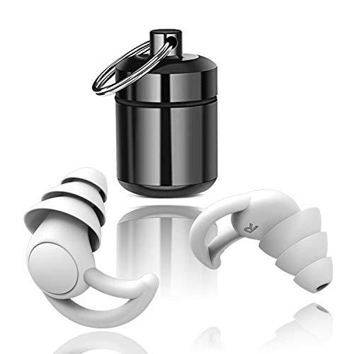Tapones para los oídos para dormir, de silicona, protección auditiva, protección auditiva, SNR 32dB, de silicona reutilizable, para nadar, resistente al agua, suave