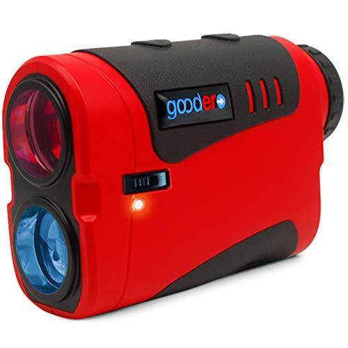 Goodero Golf Rangefinder, 1000/800 Yards 6X Rechargeable Laser Range Finder with Slope Switch ON/Off, Pinseeker, Angle, Fast Flag Lock, Jolt Vibration, Scanning Measurement - Tournament Legal