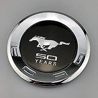 自動車金属ラベル 修正フォードマスタングGTテールテール2.3T後部ドアの装飾車のステッカー車の標準との互換性 (Color : Mustang 50years)