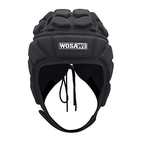 WOSAWE Protección de Casco Ajustable Portero de Cabeza para Fútbol Americano Rugby Deportes (Clásico L)