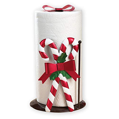 Red and White Candy Cane Christmas Paper Towel Holder